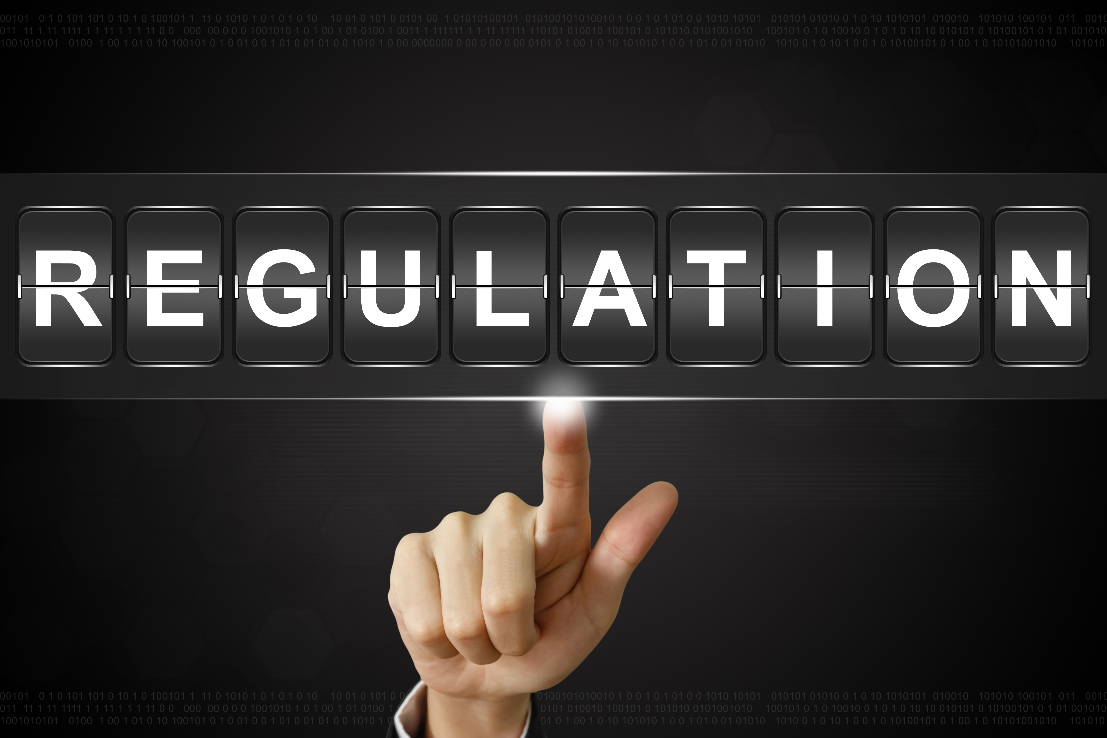 Regulation Schriftzug mit Hand