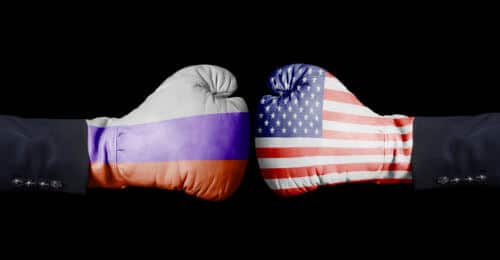 Boxhandschuh Russland - USA
