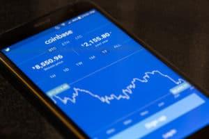 Coinbase App auf Handy