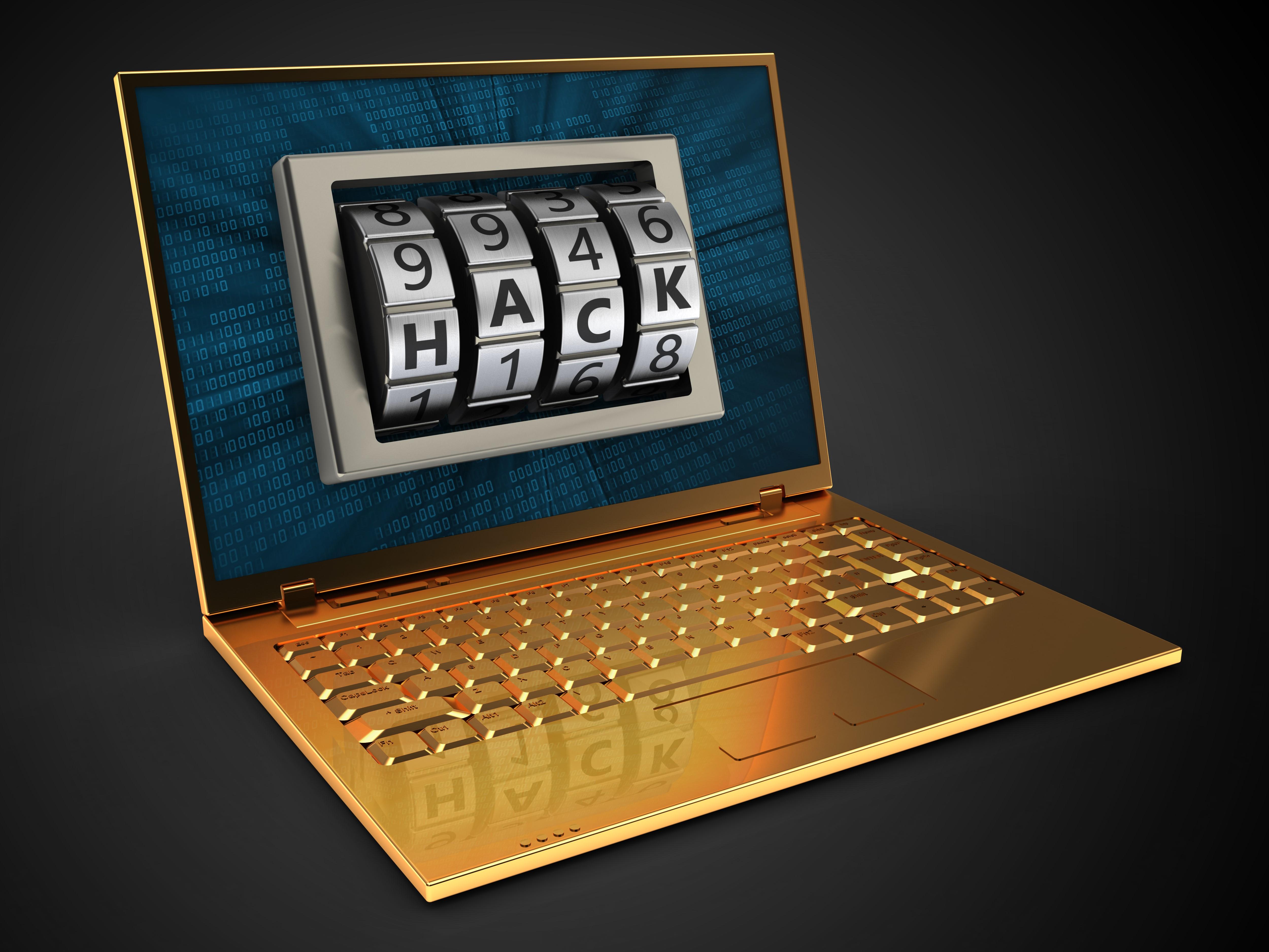 Goldener Laptop Hack