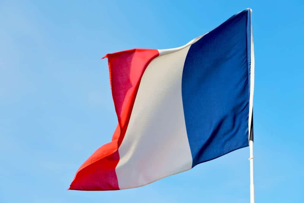 Frankreich-Flagge - Frankreich verbietet Libra
