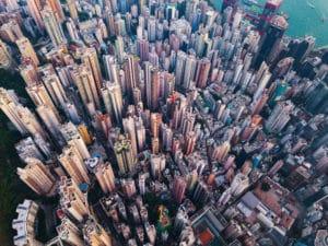 Hochhäuser Skyeline HongKong - JPMorgan Bitcoin