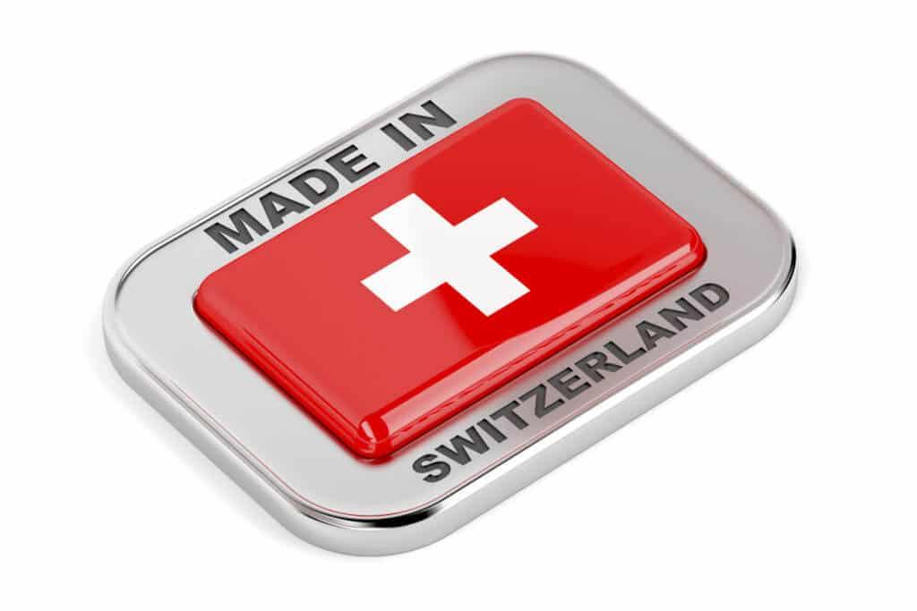 Made in Switzerland Schrfitzug Schweizer Flagge - Schweiz Libra Regulierung