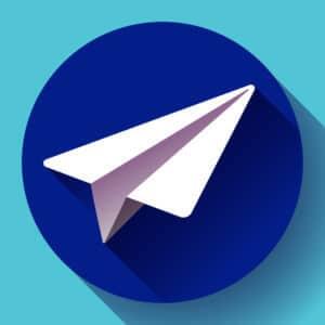 Telegram Blockchain TON Logo blau