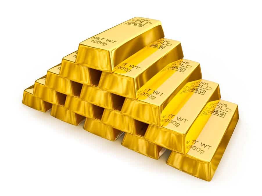 Goldbarren - goldgedeckte Kryptowährung