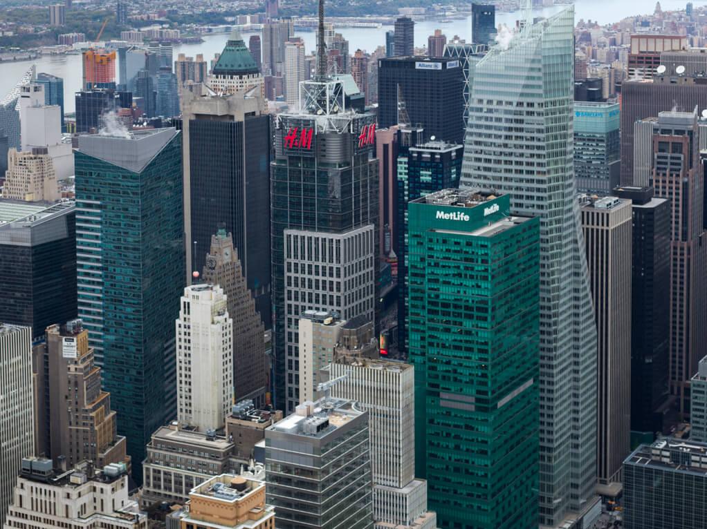 Hochhäuser Banken - digitale Währung Ripple