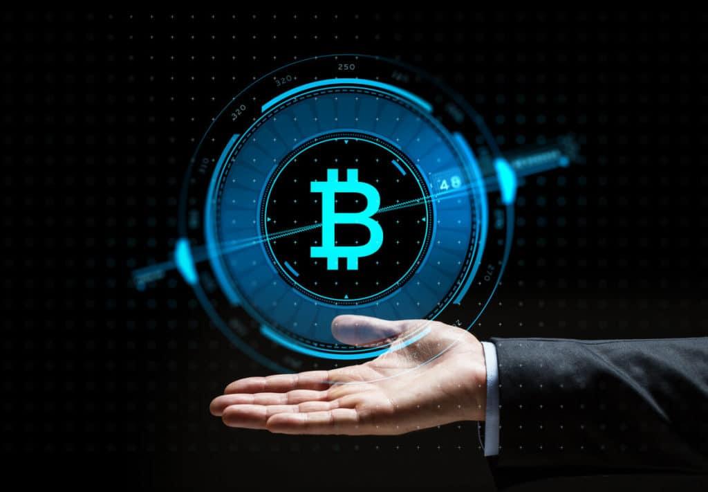 Bitcoin Banken - Bitcoin in Hand virtuell