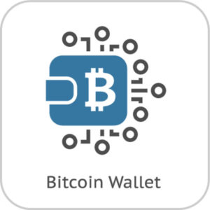Bitcoin Logo mit Muster - SegWit2x