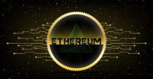 Ethereum Logo mit Kreis + Linien - DEFI-Fortschritt