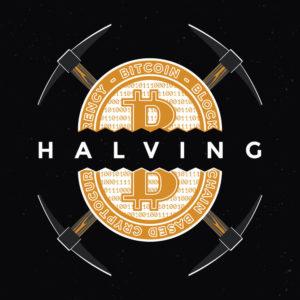 Bitcoin Münze halbiert mit Werkzeug - Bitcoin Halving 2020