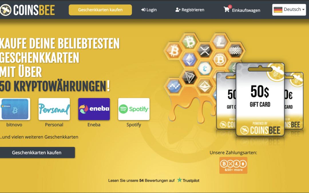 Coinsbee.com Erfahrungsbericht | Gutscheinkarten mit Kryptos kaufen