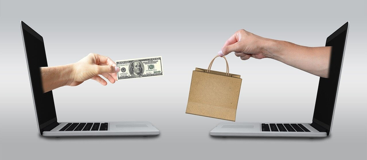 Band Protocol kaufen Laptops mit Geldschein und Tasche