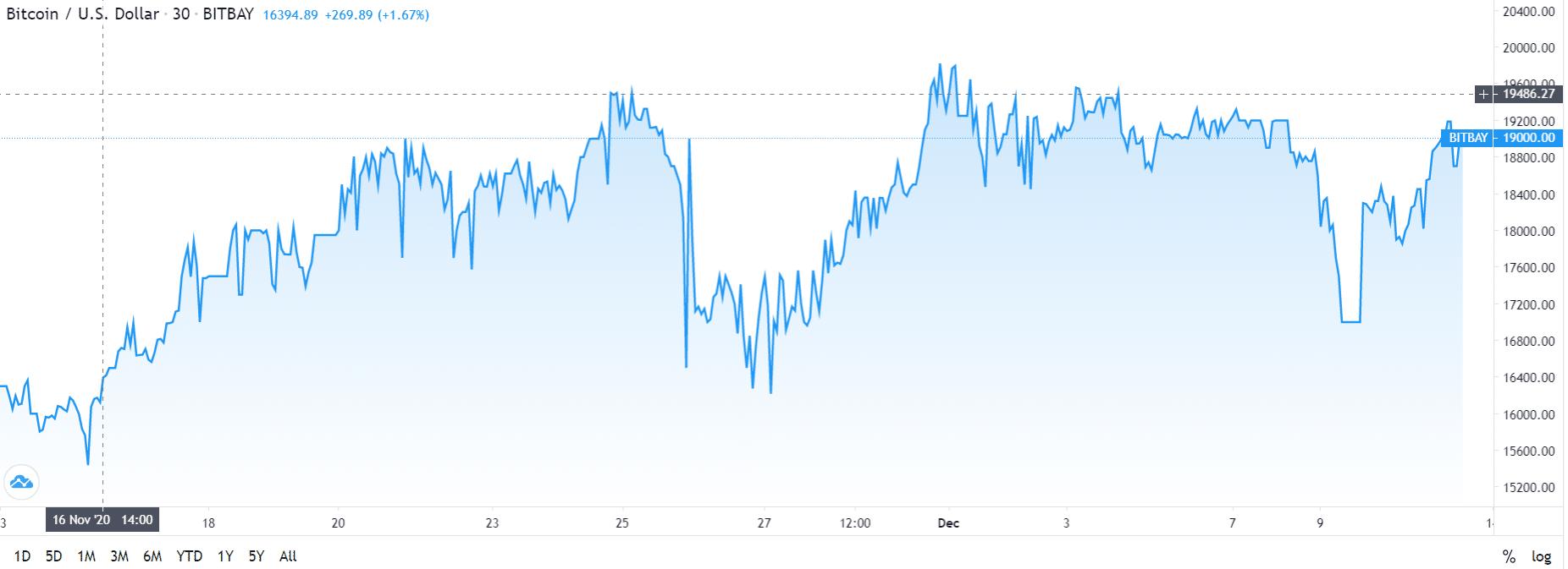 Bitcoin Chart 13/12/20