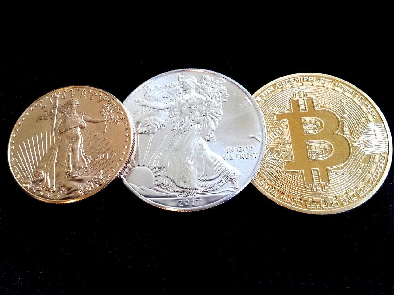 Bitcoin Gold Silber Münze Robert Kiyosaki