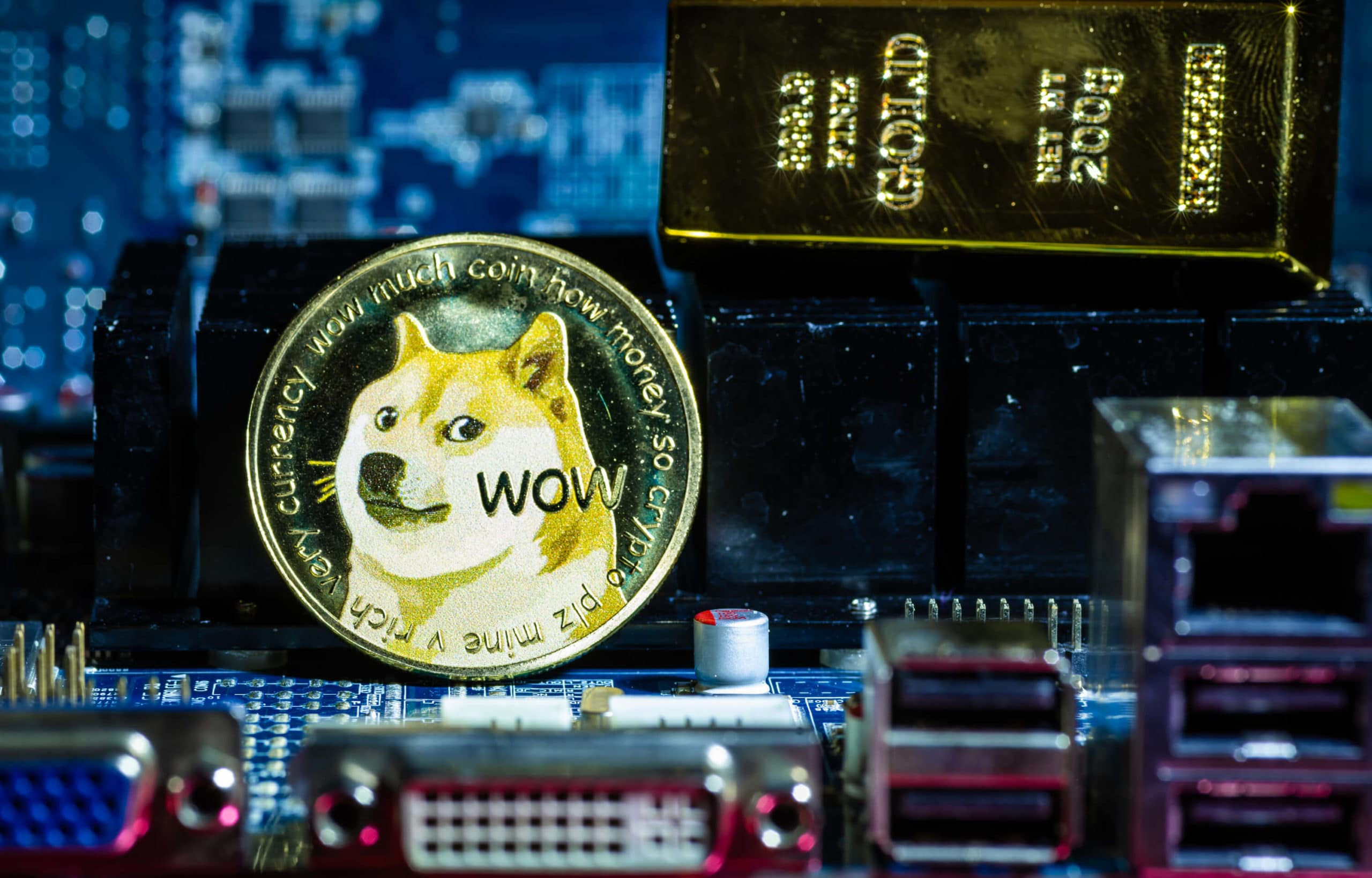 Dogecoin Coin Grafikkarte Goldbarren Snoop Dogg