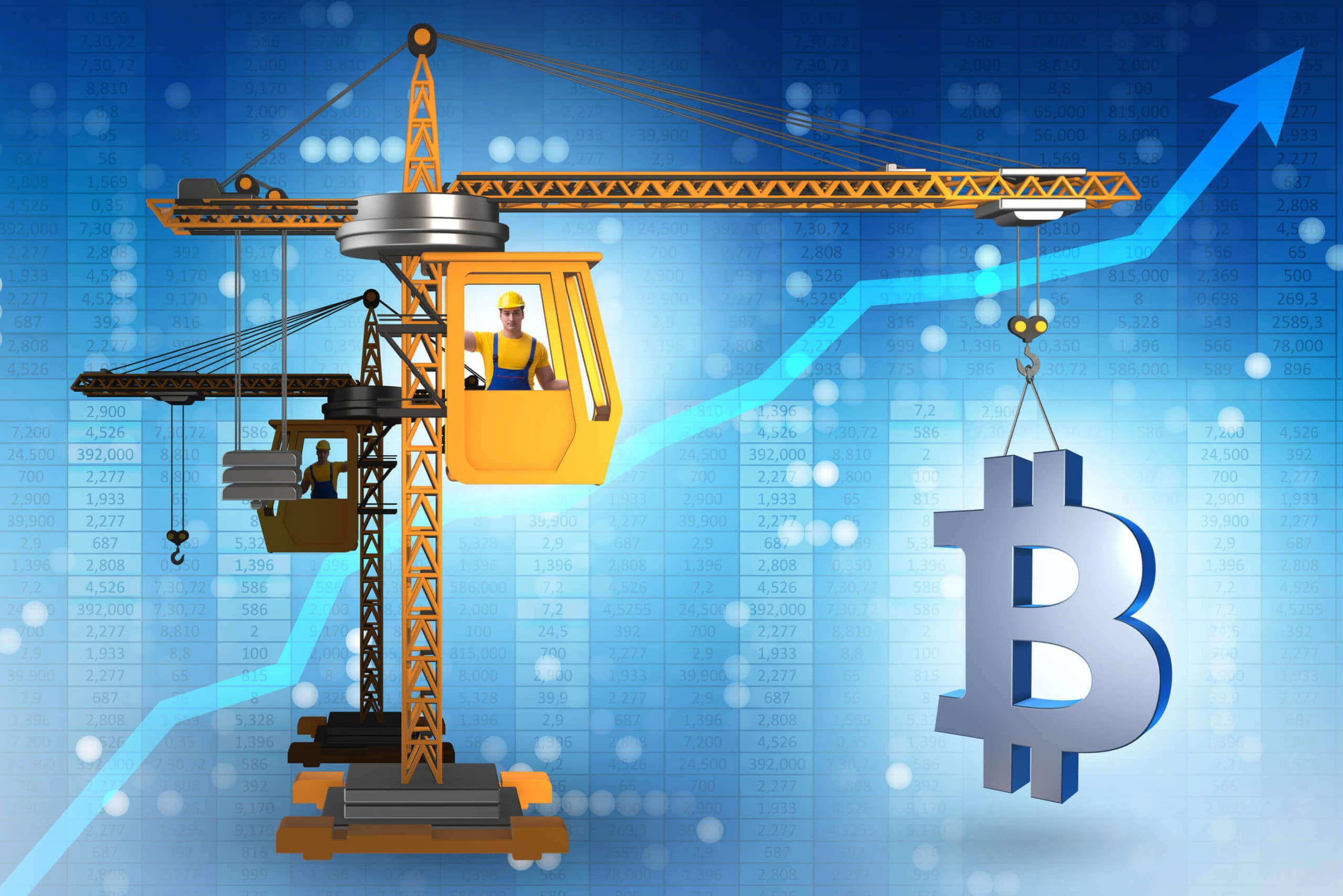 Bitcoin Prognose 2025 am Kran