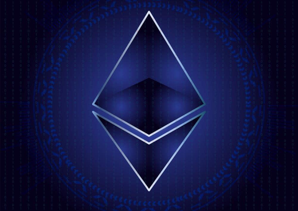 Ethereum Blockchain Logo ETH Gas Preis