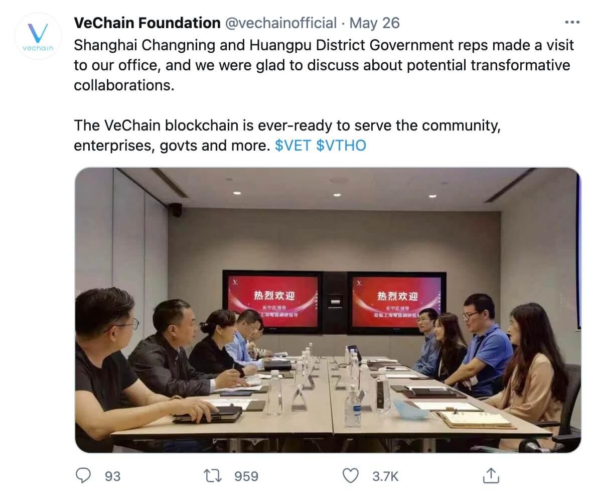 VeChain treffen mit China