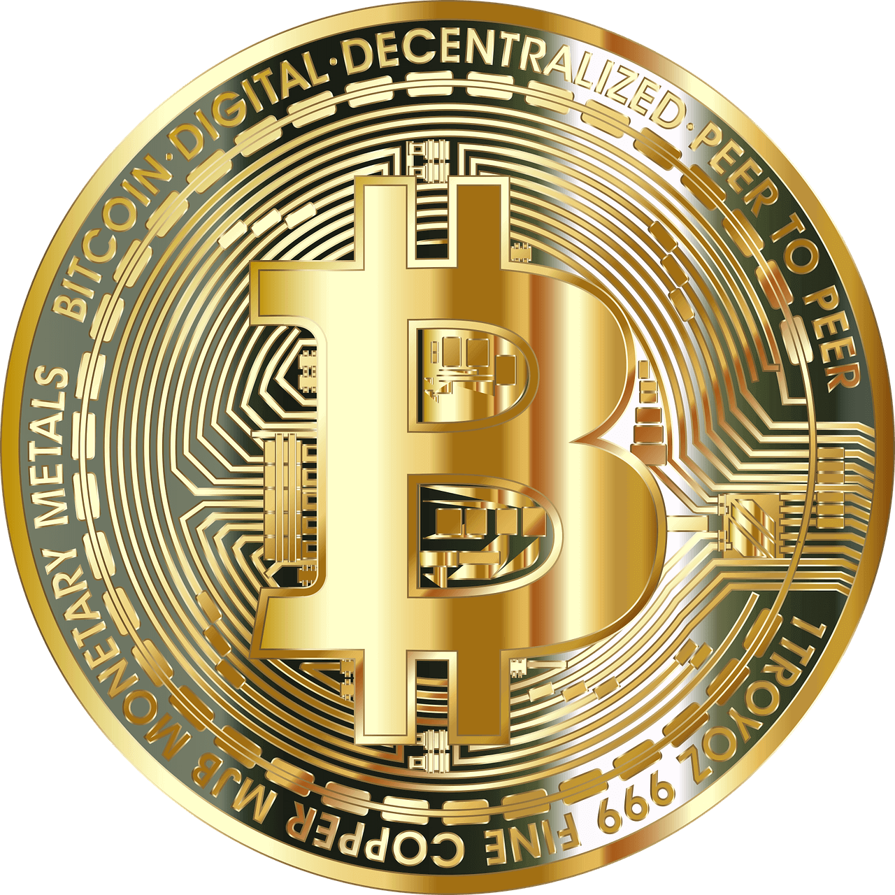 Bitcoin Zahlungsmittel Gold Münze