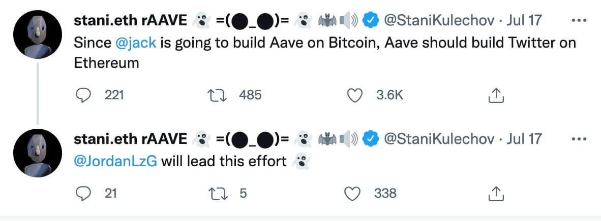 AAVE CEO Twitter