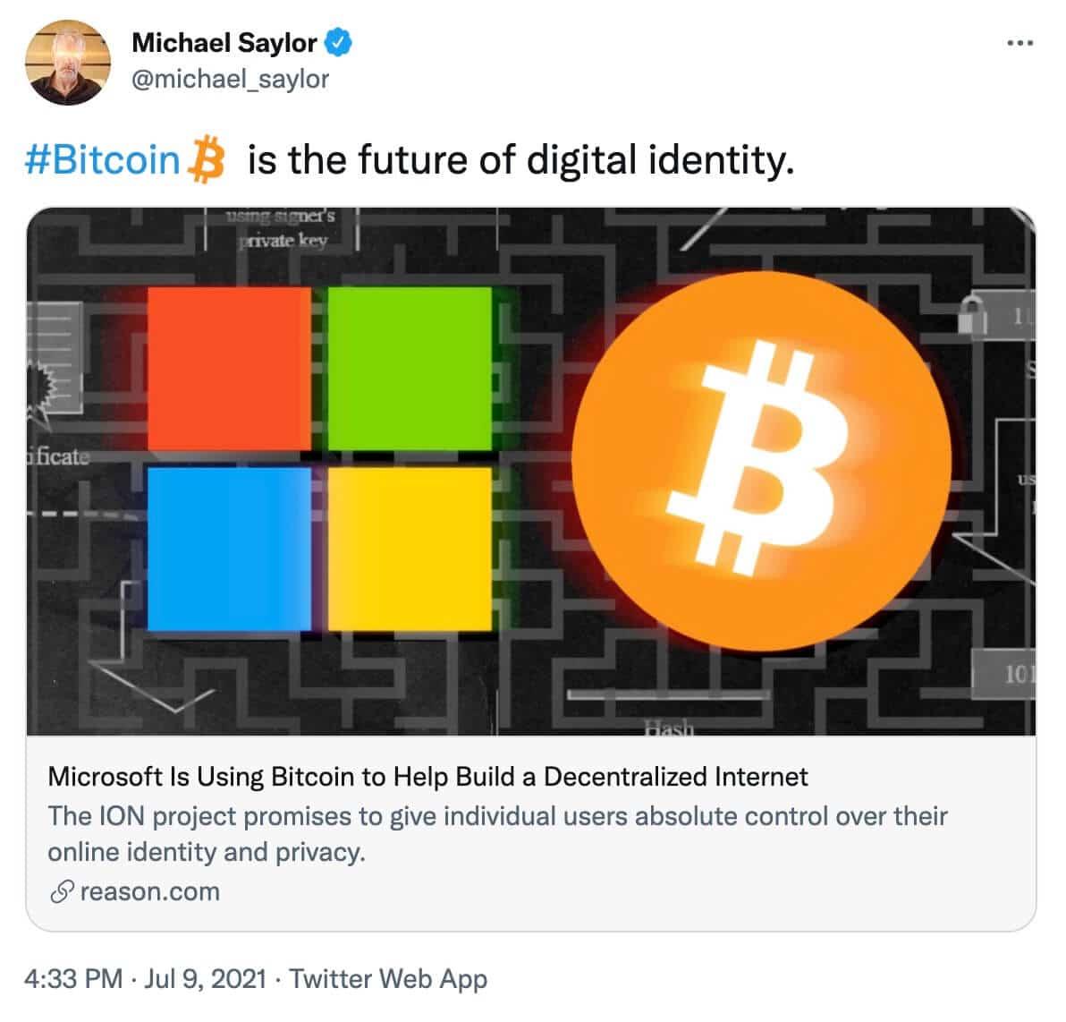 Michael Saylor Microsoft