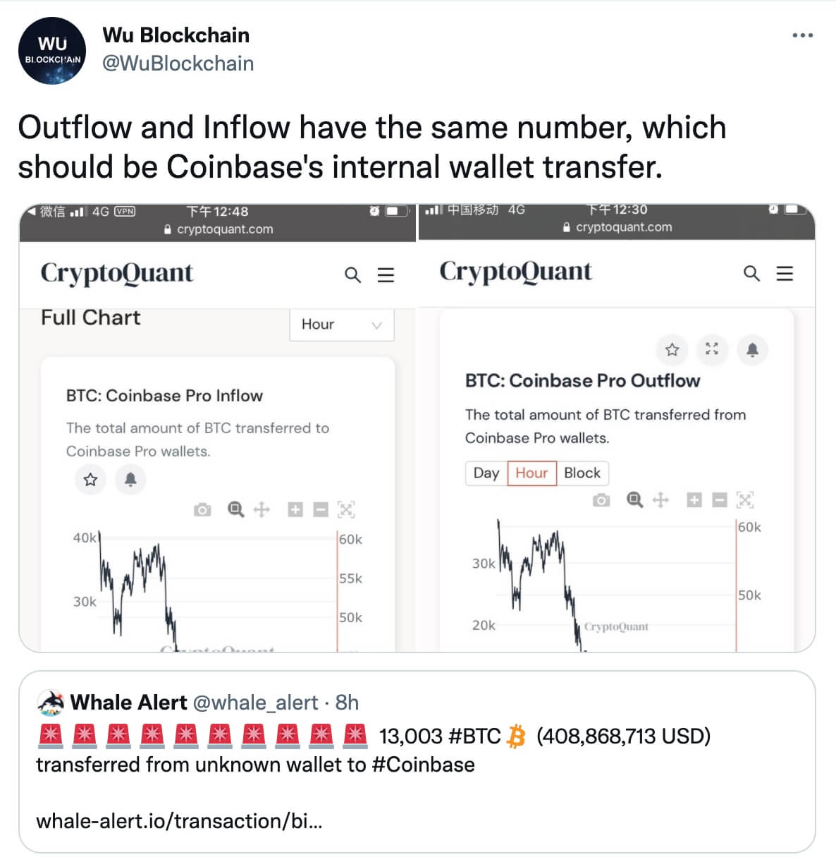 Twitter Coinbase Pro