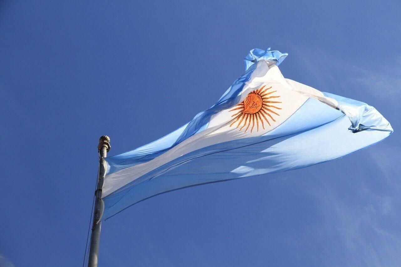 Bitcoin in Argentinien Flagge