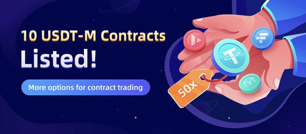 CoinEx setzt sein Engagement für Perpetual Contracts fort: 10 neue USDT-M Perpetual Contracts auf CoinEx gelistet