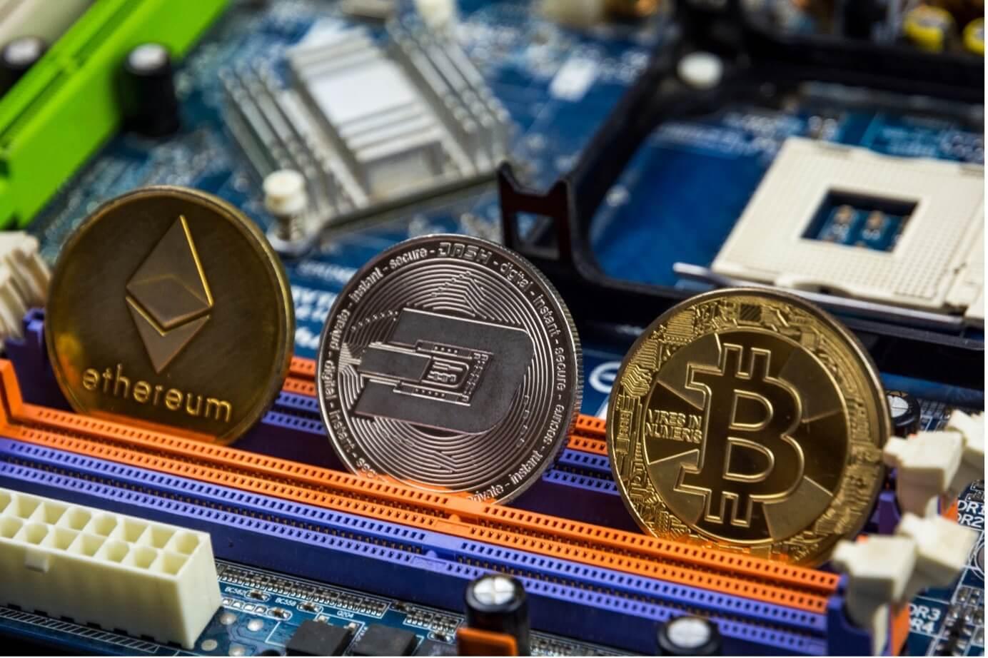 Ethereum, Dash, Bitcoin
